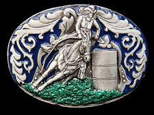Cowgirl Rodeo Horse Riders Barrel Western Equestrian Belt Buckle Boucle Ceinture
