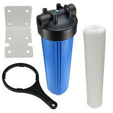 Hauswasserfilter 20 Zoll BigBlue Vorfilter Gartenfilter Brunnen + Wickelfilter