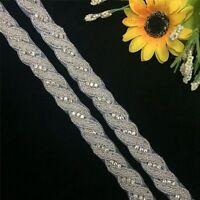 1 Yard Crystal Rhinestone Applique Trim for Wedding Bridal Sash Belt Applique