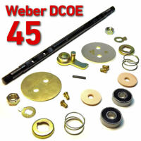 Throttle Spindle Shaft early WEBER 45 DCOE complete set repair kit