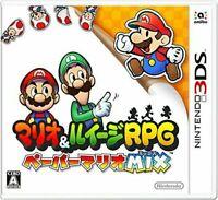 USED Nintendo 3DS Mario & Luigi RPG Paper Mario MIX
