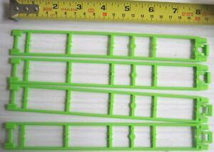 x4 Micro K'NEX Green Coaster 203mm Straight Track Parts 24351G rail knex car