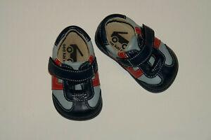 Boy's See Kai Run Smaller Light & Dark Blue Soft Leather Walking Shoes Size 3