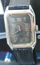"Illinois '20s Era ""Medalist"" Wristwatch - RARE BLACK DIAL!"