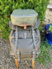 Swiss Army Backpack Rucksack Rubberised Vintage additional Bag Bread shoulder