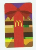 McDonalds Gift Card - Big Mac Hamburger with Red Bow - 2015 - No Value