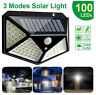 100 LED Solar Power Wall Lights PIR Motion Sensor Outdoor Garden Lamp Waterproof