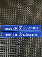 Hofbrau Munchen Bar Mats. 2 Piece Set. Measures 24� Long 3 1/2� Wide. Brand New.