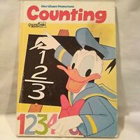 Walt Disney Productions COUNTING Golden Book 1976 Vintage Donald Duck Mickey
