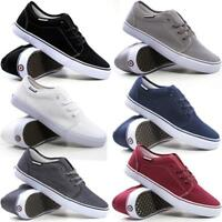 Mens Lambretta Lace Up Casual Canvas Shoes Plimsolls Pumps Skates Trainers Size