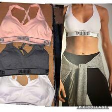 Ladies Puma Sports Bra, Medium Impact Seamless Gym Exercise Bra. FREE POST