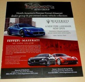 MASERATI OF MANHATTAN SPORTS CARS  ADVERTISEMENT #1
