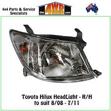 HEADLIGHT fit TOYOTA HILUX R/H RIGHT DRIVER SIDE 2008-2011 2WD 4WD STYLESIDE