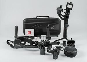 Zhiyun Crane 2 3-Axis Gimbal w/Dual-Handle Grip, Follow-Focus, Shoulder Brace