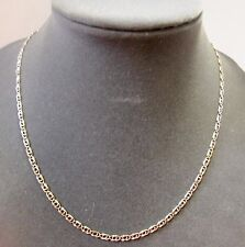 """Gorgeous 14K Yellow GOLD Scroll LINK CHAIN NECKLACE 19.75"""" italy unisex 3.60 mm"""