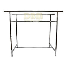 """Retail Double 2 Bar Rail Clothing Clothes Display Rack Adjustable Height 72"""" Max"""