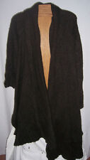 NWT Noppies Maternity Dark Brown Sweater Poncho Shawl Misses XL/2X