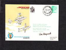 Great Britain QEII Vintage Pair RAF Signed Capt Maynard Pilot 1975 CardInsid z50