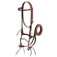 WEAVER HORSE LEATHER BRIDLE WESTERN RIDING LONG-LASTING WORKING HEAVY DUTY TACK