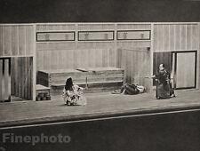 1929 JAPAN Photo Gravure ~ TOKYO JAPANESE THEATRICAL DUEL Fight Performance Art