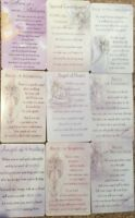 ANGEL WALLET PURSE KEEPSAKE CARDS SENTIMENTAL INSPIRATIONAL MESSAGE  CARDS(B8