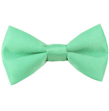 New KID'S BOY'S 100% Polyester Pre-tied Bow tie only aqua green formal wedding