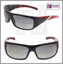 PRADA LINEA ROSSA SPORT PS06HS Wrap Black Red Silver Sunglasses 06H