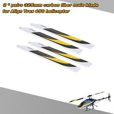 2Pairs Carbon Fiber 325mm Main Blades ofr Align Trex Electric 450 Helicopter