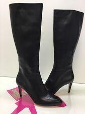 Via Spiga Womens Christy High Heel Boots Black Leather US 9.5M