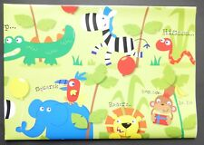 2 Sheets Simon Elvin JUNGLE Gift Wrap Matching Tag Birthday Wrapping Paper