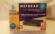 Netgear Rp114 100 Mbps 4-Port 10/100 Web Safe Cable Dsl Router Rp114