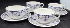 Masons DENMARK BLUE 4 Cup & Saucer Sets GREAT CONDITION