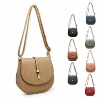 Ladies Faux Leather Messenger Bag Saddle Bag Shoulder Bag Handbag MZ-9572-2