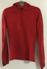 Ibex Women's Shak Half Zip Pullover Hoodie Merino Wool - Red - Xs