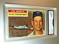 1956 Topps VIC WERTZ #300 GMA Graded Authentic