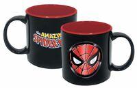 The Amazing Spider-Man Iridescent Face Insignia 20 oz Ceramic MUG, NEW UNUSED