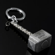 Marvel Avengers Thor Thor's Hammer Metal Keyring Keychain Silver Color