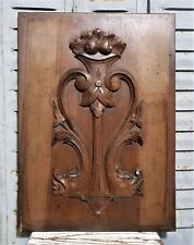 Griffin scroll leaves panel antique french carved wood architectural salvage