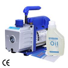 Single 1 Stage 4Cfm 1/3Hp Rotary Vane Deep Vacuum Pump Hvac Ac Air Tool R410a R1