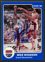 Mike Woodson #80 signed autograph auto 1985-86 Star Basketball Trading Card