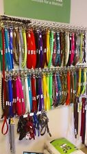 """21"""" or 19"""" DAY-GLO NYLON DOG COLLARS FREE NAMEPLATE TT10 TT15 t5 REPLACEMENT 1"""""""