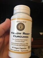 Yellow Root Curcumin from Turmeric Root Extract (Curcuma Longa) 630 Milligrams a
