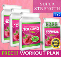 RASPBERRY KETONE EXTRACT STRONGEST 1000MG WEIGHT LOSS DIET SLIMMING FAT BURNER