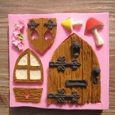 3D Fairy House Door Silicone Fondant Mold Cake Decorating Chocolate Mold Tool GA