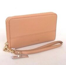New OROTON Bueno Iphone Wristlet Clutch Wallet Purse Leather Natural RRP$225