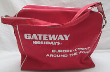 Vintage Gateway Holidays Orient Europe Travel Bag  Carry On Tour Airline Red
