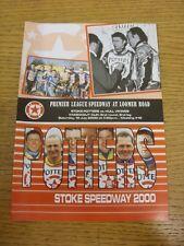 15/07/2000 Speedway Programme: Stoke Potters v Hull Viking [Knockout Cup] (resul