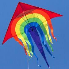 Großer Kinder-Drachen Rainbow Delta XL 150x166 cm mit Schnur Drachen Flugdrachen