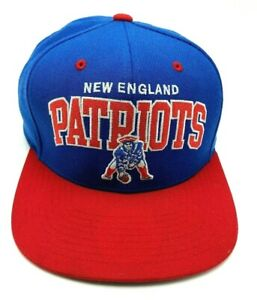 NEW ENGLAND PATRIOTS blue red hat adjustable cap 100% Wool Mitchell & Ness