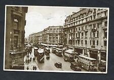 View of Traffic/Buses, Oxford Circus, London. Stamp/Postmark - 1937